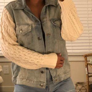 Vici Sweater Denim Jacket